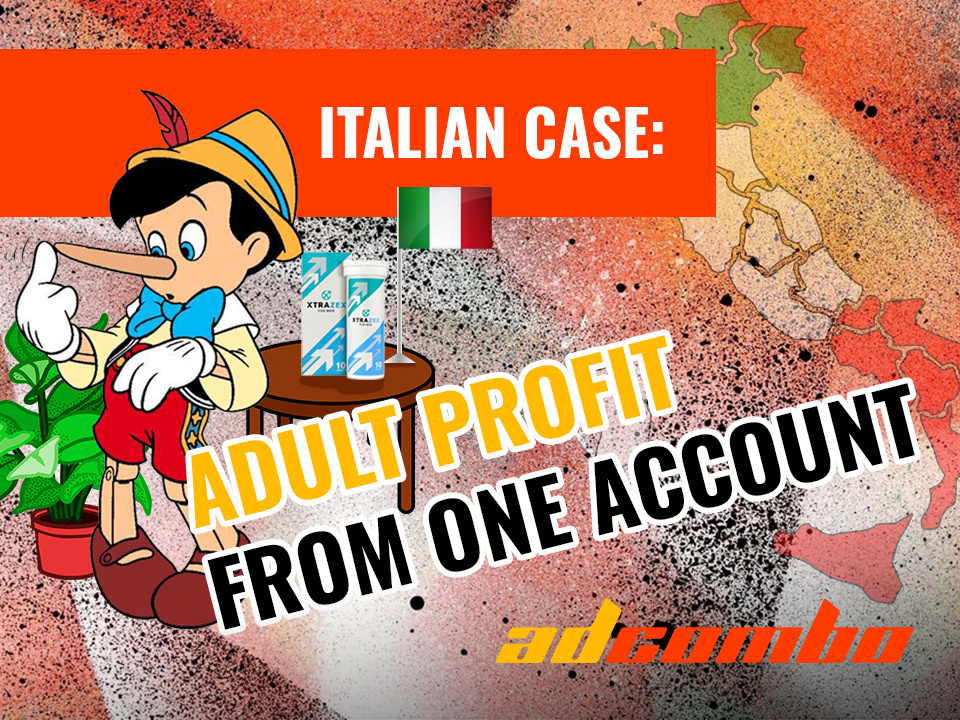 Italian Case Study: $1450 Profit with Adult Offer and One Account